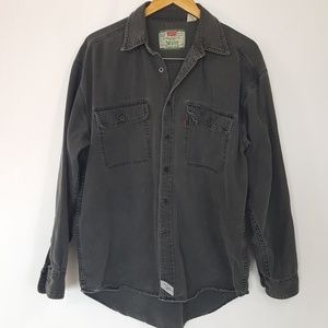 LEVI's Washed Black Button Down Long Sleeve